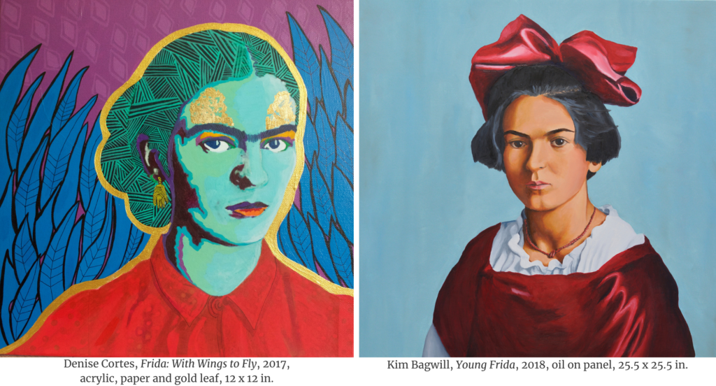 Frida: With Wings to Fly by Denise Cortes (left) and Young Frida by Kim Bagwill (right)